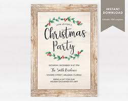 xmas party invite etsy