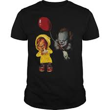 ladies halloween t shirts mr meeseeks and stormtroopchucky and pennywise halloween t shirt