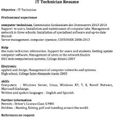 network technician resume network technician resume example