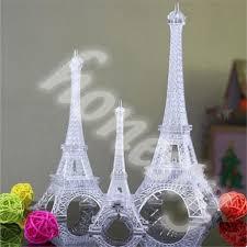 Eiffel Tower Accessories For Bedroom Romantic Eiffel Tower Led Night Light Desk Wedding Bedroom