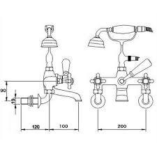 enki wall mount shower mixer taps bath filler traditional cross enki wall mount shower mixer taps bath filler traditional cross handle eton