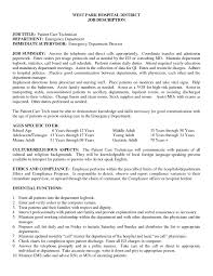 Sample Vet Tech Resume by Er Tech Resume Resume For Your Job Application