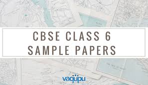 cbse class 6 sample question papers of all subjects for download