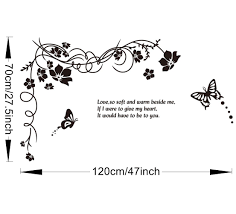 black butterflies and vines home uk wall sticker