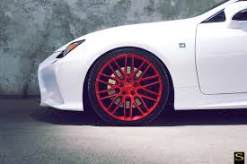 white lexus black wheels white lexus rc350 savini wheels black di forza bm13 brushed red 16