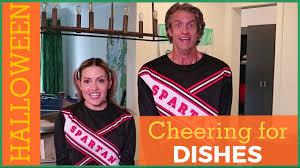 kim davis halloween mask halloween snl parody cheering for dishes the holderness family