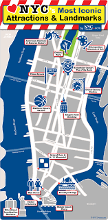 map of new york city with tourist attractions map of new york city manhattan 15 maps top tourist attractions on