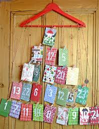 homemade paper envelope advent calendar pillar box blue