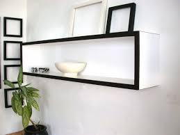 minimalist white long floating wall shelves popular floating