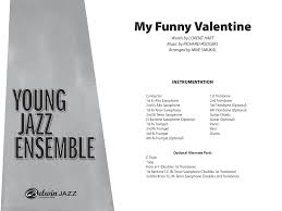 my funny valentine by richard rodgers arr mike s j w pepper