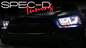 halo lights for dodge charger 2013 specdtuning installation 2011 2014 dodge charger projector