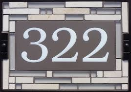 elegant personalized name and address plaques design of tribeca