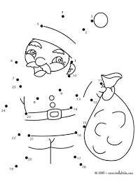 santa claus sack coloring pages hellokids com
