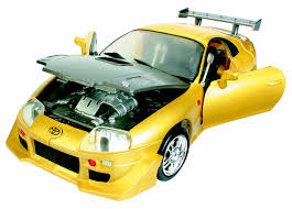 yellow toyota roadbot road bot 1 18 scale toyota supra yellow buy online in