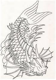 drawn koi dragon pencil and in color drawn koi dragon