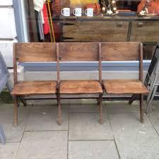 vintage folding chapel bench the consortium vintage furniture