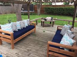 Free Sewing Patterns For Outdoor Furniture by Ana White Outdoor 2x4 Sofas Diy Projects Outdoor Furniture