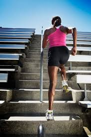 treadmill incline in comparison to the stairs woman