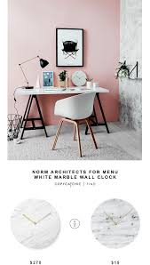 norm architects white marble wall clock copycatchic