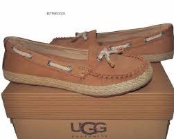 ugg s chivon shoes ugg australia chivon chestnut brown moccasin flat shoes size 6 ebay