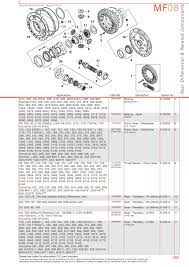 massey ferguson rear axle page 295 sparex parts lists