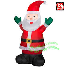 Blow Up Christmas Decorations For Sale 3 1 2 u0027 santa both hands up with green mittens
