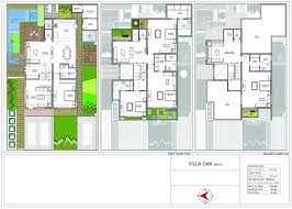 villa plans floor plan villa maple elevation architecture plans 82446