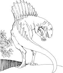 spinosaurus dinosaurs coloring pages kids b7e printable