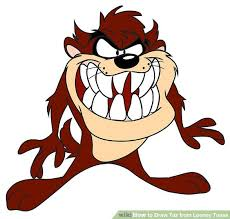 draw taz looney tunes 9 steps pictures