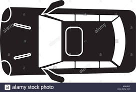 vehicle top view silhouette car parking top view stock vector art u0026 illustration