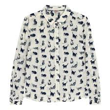cat blouse small painted cats shirt cats cathkidston