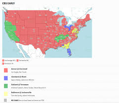 Tv Reception Map Coverage Map Released For Broncos Bengals Game