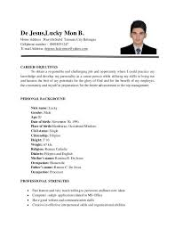 sample resume for ojt students best resume collection