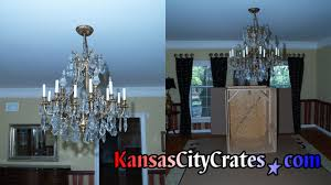 Lead Crystal Chandelier Kansas City Crates How To Move A Chandelier