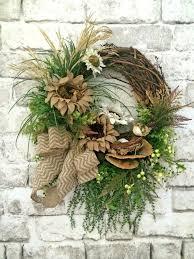 burlap sunflower wreath burlap sunflower wreath front door wreath by adorabellawreaths