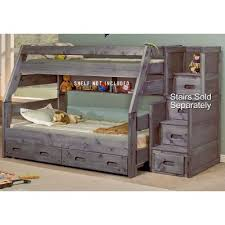Fort Driftwood Rustic TwinoverFull Bunk Bed RC Willey - Full and twin bunk bed