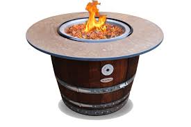 Wine Barrel Fire Pit Table by Vin De Flame The Reserve Wine Barrel Fire Pit Table With 42