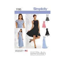 dress pattern john lewis simplicity women s dress sewing pattern 1195 at john lewis