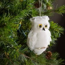 7 white owl ornament 20293 craftoutlet