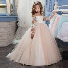 flower girl dresses sleeve chagne lace flower girl dress baby