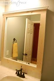 bathroom rustic framed mirror ideas bathroom good iluminated mirror with unfinished wood frame for