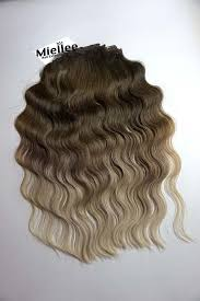 light ash blonde clip in hair extensions light ash brown balayage clip in extensions beach wave remy human