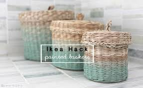 ikea baskets ikea hack ombre painted baskets pearmama