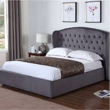 Nail Button Wingback Bed by Bedrooms Wingback Bed Skyline Furniture Nail Button Tufted