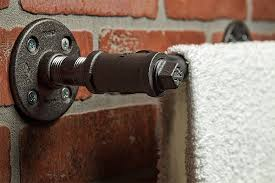 industrial towel rod towel bar towel rack wall decor bath