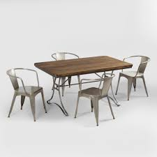 World Market Dining Room Jackson Rectangular Table With Metal Base World Market