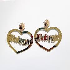 heart ear rings images Babygirl earrings bamboo gold large big hoop heart earrings creole jpg