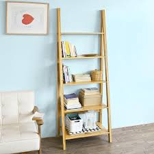 amazon com sobuy frg61 b n bamboo 5 tiers ladder bookcase