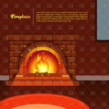 room interior with fireplace vector clipart image 47870 u2013 rfclipart