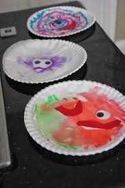 toddler approved colorful paper plate monster craft